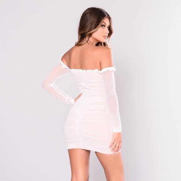 76da04aac1b Fashion Nova Dresses   Skirts - WHITE Maura Mesh Dress